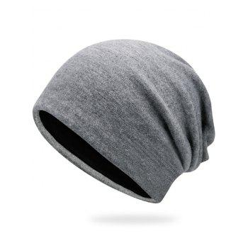 Autumn Plain Knit Hat - LIGHT GREY LIGHT GREY