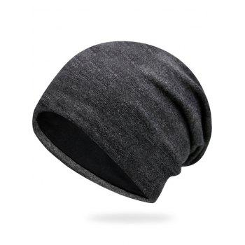 Autumn Plain Knit Hat - DEEP GRAY DEEP GRAY
