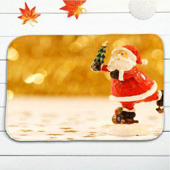 3Pcs Christmas Bathroom Santa Claus Toilet Mats Set - GOLDEN