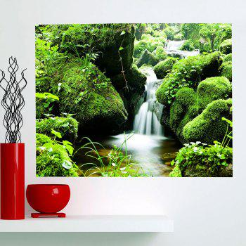 Mountain Stream Patterned Multifunction Wall Art Painting - GREEN 1PC:59*39 INCH( NO FRAME )