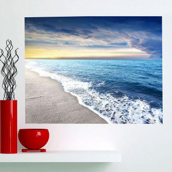Multifunction Surf Beach Patterned Floor Wall Art Painting - CLOUDY 1PC:24*71 INCH( NO FRAME )