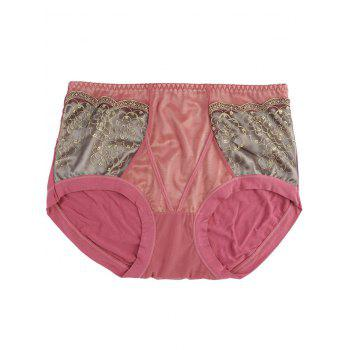 Full Coverage Panties with Lace - WATERMELON RED ONE SIZE