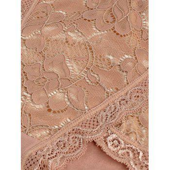 Lace Front Full Coverage Panties - ONE SIZE ONE SIZE