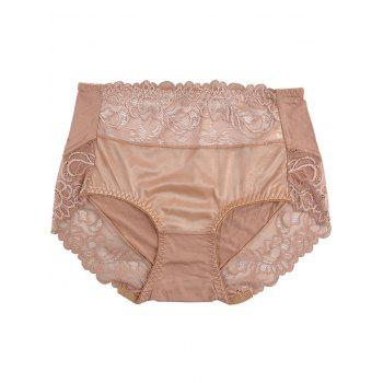 Lingerie Panties with Lace - KHAKI KHAKI