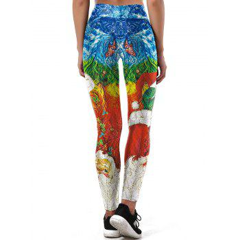 Santa Claus Merry Christmas Leggings - COLORMIX COLORMIX