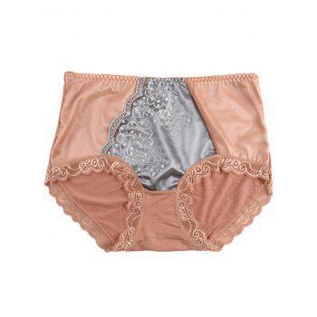 Lace Trim Panties - LIGHT COFFEE LIGHT COFFEE