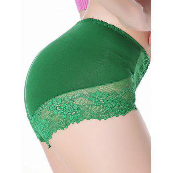 Laciness Lingerie Panties - GREEN ONE SIZE