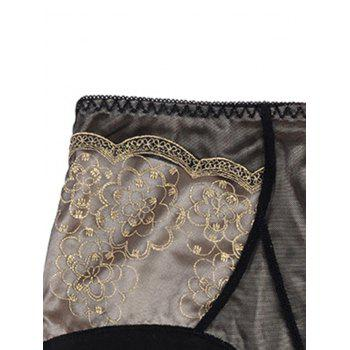 Full Coverage Panties with Lace - BLACK BLACK