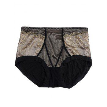 Full Coverage Panties with Lace - BLACK ONE SIZE
