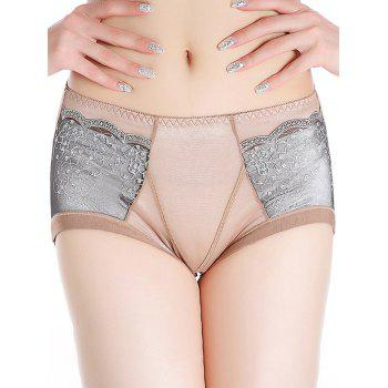Full Coverage Panties with Lace - COFFEE COFFEE