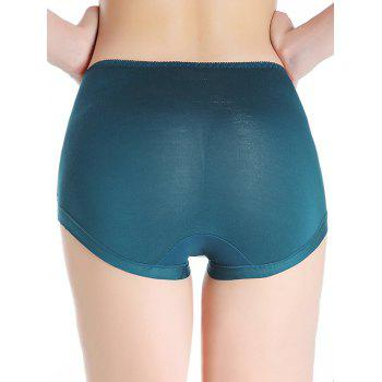 Full Coverage Panties with Lace - BLACKISH GREEN ONE SIZE