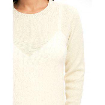 Fuzzy Faux Cami Sweater - Palomino ONE SIZE