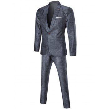 Argyle One Button Three Piece Business Suit - 3XL 3XL