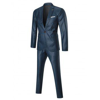 One Lapel Button Three-piece Business Suit - 2XL 2XL