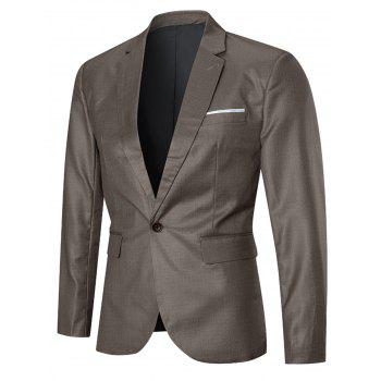 One-button Lapel Three Piece Business Suit - GOLDEN 3XL