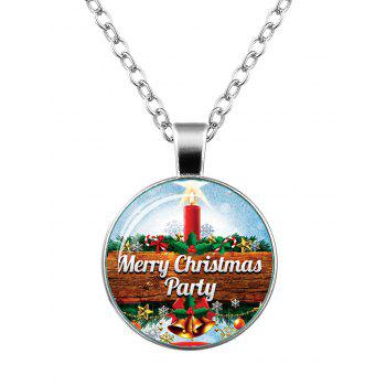 Merry Christmas Bells Snowflake Star Necklace - SILVER SILVER