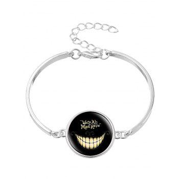 Alice's Evil Smile Moon Shape Necklace Bracelet Earring -  SILVER
