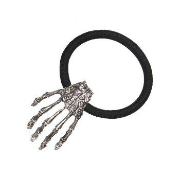 Halloween Skeleton Hand Elastic Hair Band - SILVER SILVER