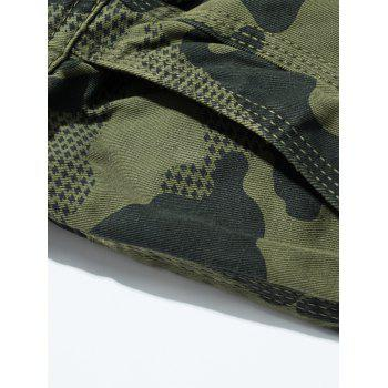 Swallow Gird Camouflage Cargo Pants - ARMY GREEN 32