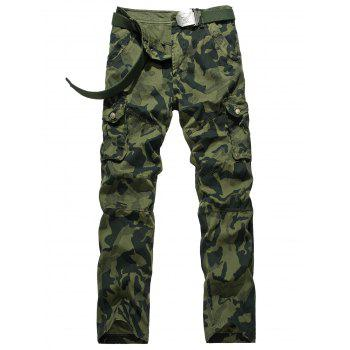 Swallow Gird Camouflage Cargo Pants - ARMY GREEN 34