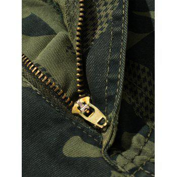 Swallow Gird Camouflage Cargo Pants - ARMY GREEN 36