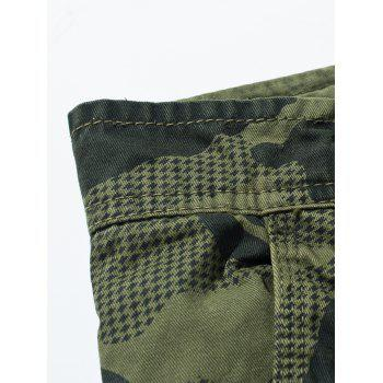 Swallow Gird Camouflage Cargo Pants - DEEP GRAY 36