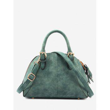 Crocodile Pattern Shell Shape Buckle Strap Totes - GREEN GREEN