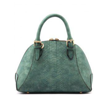 Crocodile Pattern Shell Shape Buckle Strap Totes - GREEN