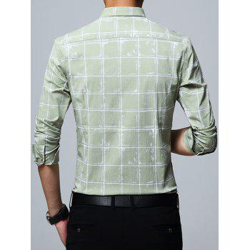 Chemise Checked Casual - Pois Verts 4XL