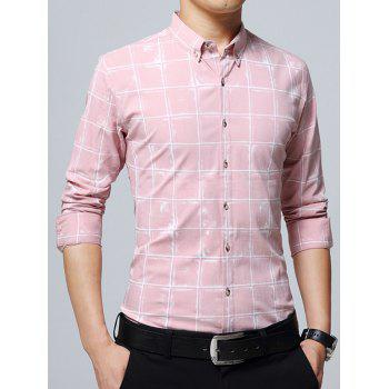 Chemise Checked Casual - ROSE PÂLE 5XL
