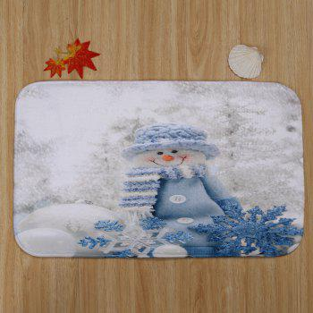 Christmas Snowman Doll Pattern 3 Pcs Bathroom Toilet Mat -  COLORMIX