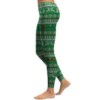 Leggings en forme de flocon de neige - Vert XL