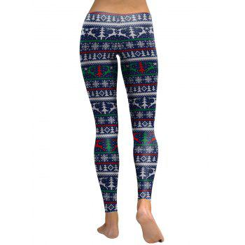 Leggings en forme de flocon de neige - Bleu L