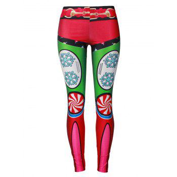 Snowflake Christmas Party Leggings - COLORMIX S