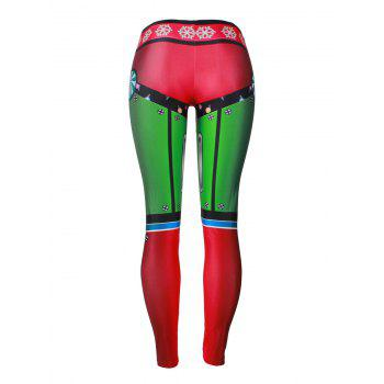 Leggings de fête de noel de flocon de neige - multicolorcolore L