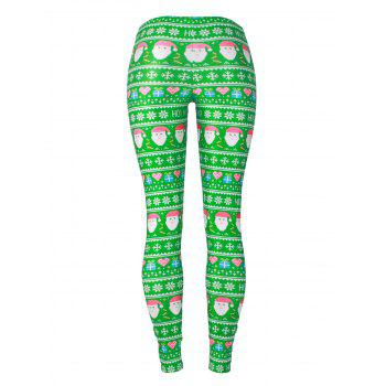 Santa Claus Snowflake Christmas Gift Leggings - COLORMIX M