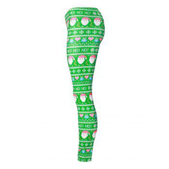 Santa Claus Snowflake Christmas Gift Leggings - COLORMIX L