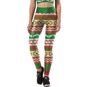 Print Christmas Party Leggings - COLORMIX COLORMIX