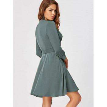 Fit and Flare Dress with Belt - 2XL 2XL