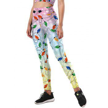 Christmas Light Party Leggings - COLORMIX COLORMIX