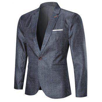 Argyle One Button Three Piece Business Suit - PEARL DARK GREY PEARL DARK GREY
