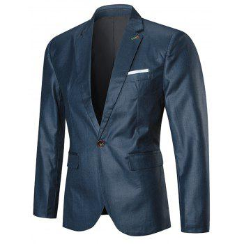One Lapel Button Three-piece Business Suit - BLUE BLUE