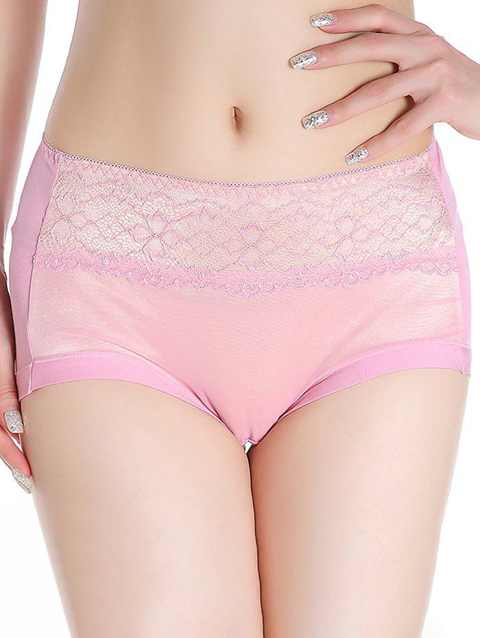 Lingerie Panties with Mesh - PINK ONE SIZE
