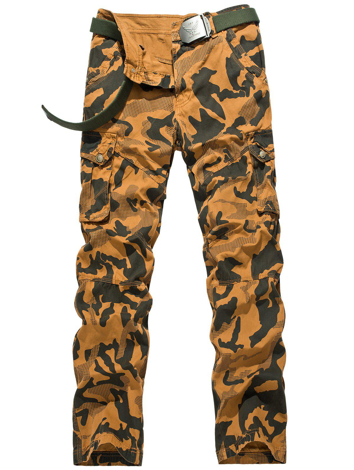 Swallow Gird Camouflage Cargo Pants - EARTHY 38