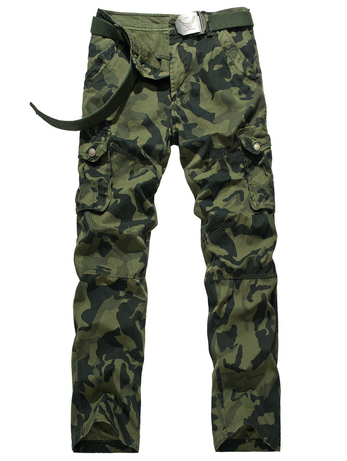 Swallow Gird Camouflage Cargo Pants - ARMY GREEN 40