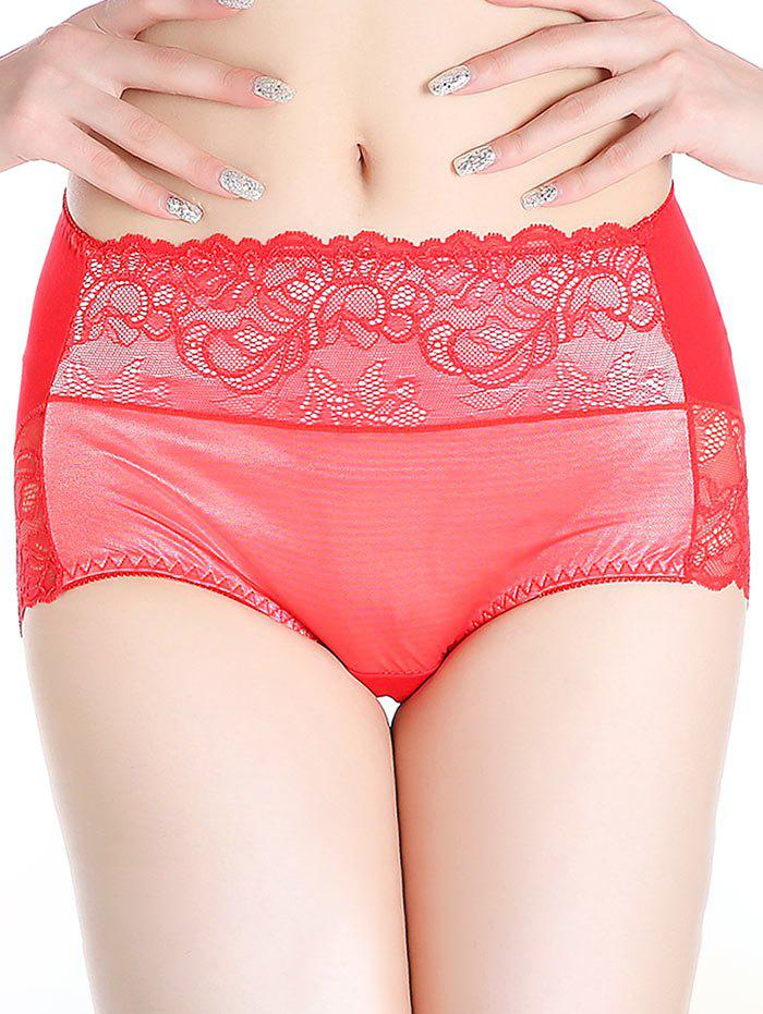 Lingerie Panties with Lace - RED ONE SIZE