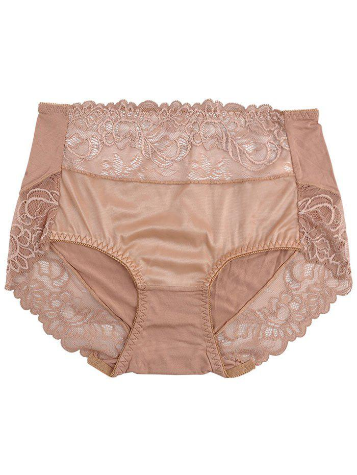 Lingerie Panties with Lace - KHAKI ONE SIZE