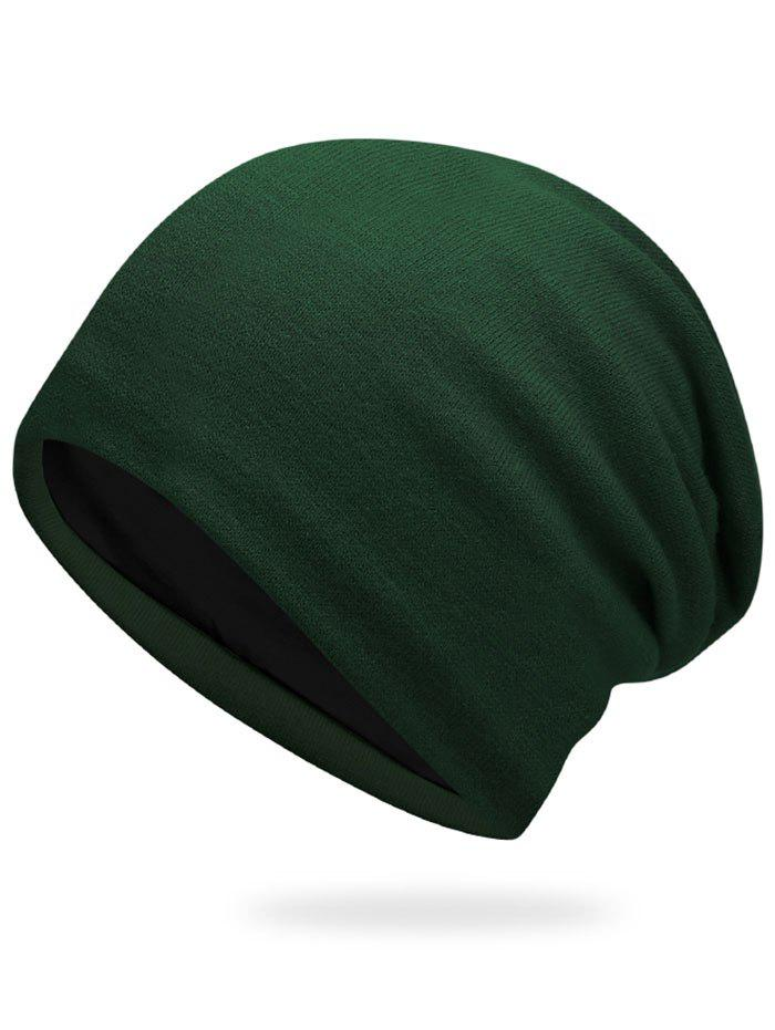 Autumn Plain Knit Hat - ARMY GREEN
