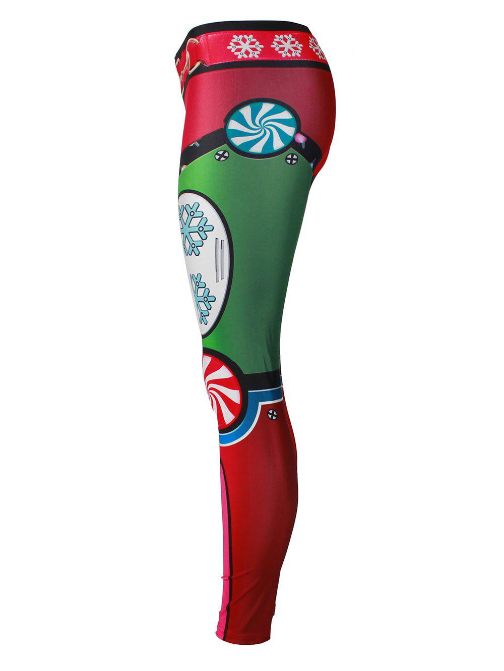 Snowflake Christmas Party Leggings - COLORMIX XL