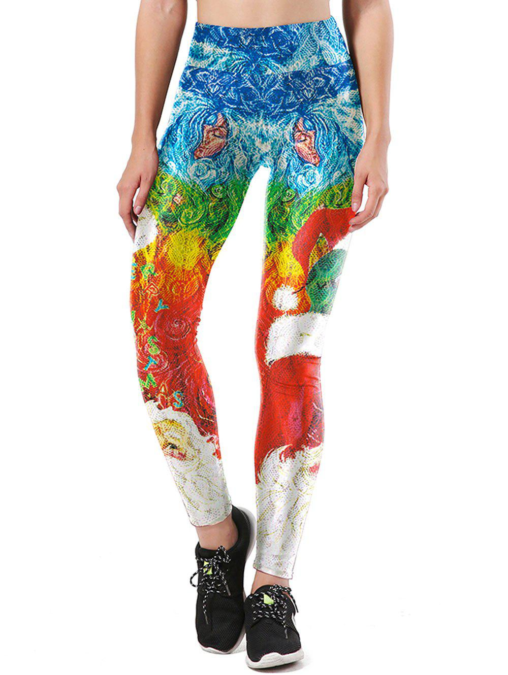 Skinny Print Leggings - COLORMIX XL